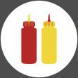 Food Day Collab BBQ circle ketcup mustard