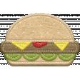 Food Day Collab BBQ felt hamburger