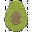 Food Day Collab Taco felt avocado