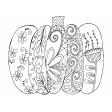 Thanksgiving Coloring Page - Pumpkin