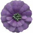 Day of Thanks Elements - Purple Flower