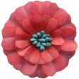 Day of Thanks Elements - Red Flower