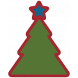 Home For The Holidays Elements - Sticker Print Tree