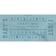 Baby's First Christmas Elements - Ticket Blue