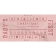 Baby's First Christmas Elements - Ticket Pink