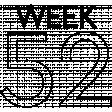 Weekly Number Stamps - Week 52