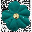 Enjoy Each Moment Elements - Teal Flower
