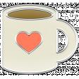 A Mug & A Book Elements - Enamel Mug
