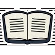 A Mug & A Book Elements - Sticker Book Open