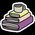A Mug & A Book Elements - Sticker Book Pile