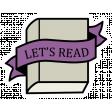 A Mug & A Book Elements - Sticker Let's Read