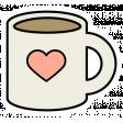 A Mug & A Book Elements - Sticker Mug