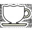 A Mug & A Book Elements - Sticker Teacup