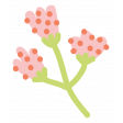 Oh The Places You'll Go Elements - Floral Sticker 4
