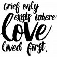 Remembrance Stamps - Grief Word Art