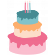 The Good Life: Birthday Illustrations - Cake 2 Color