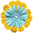 The Good Life July Elements - Flower 7 Blue