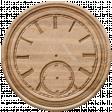 Go West-Elements -Wood Clock