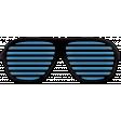 West Coast Best Coast Elements - Rubber Sunglasses Blue