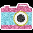 The Good Life Sept Elements - Glitter Camera Pink
