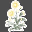Flower Power Elements Kit - Vintage Sticker Floral Bunch
