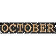 The Good Life - October Elements - Print October
