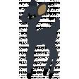 The Good Life - December Elements - Sticker Navy Deer