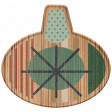 The Good Life - December Elements - Wood Ornament 1