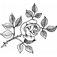 SciFi Stamps - Flower 4 Stamp