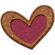 The Good Life: February Elements - chipboard heart