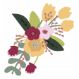 The Good Life: February Elements - flower bouquet sticker