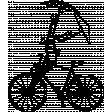 Umbrella Weather Vintage Stamps - Bike Umbrella Stamp