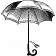 Umbrella Weather Vintage Stamps - Umbrella 2 Stamp