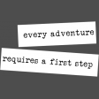 The Good Life: March 2019 Words & Tags Kit: label - adventure requires a first step