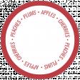 Homestead Words & Tags - Apple Cherries Peaches Plums
