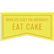 Birthday Words & Tags Kit: eat cake