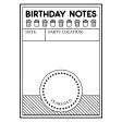 Birthday Pocket Cards Kit #2: Journal Card 09 - 3x4 BW