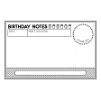 Birthday Pocket Cards Kit #2: Journal Card 09 - 4x6 BW