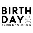 Birthday Pocket Cards Kit #2: Journal Card 12 - 4x6 BW
