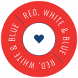 Americana Elements - Label Red White Blue