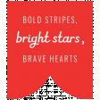 Americana Elements - Label Stripe, Stars, Hearts