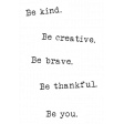 The Good Life: September 2019 Words & Labels Kit - word strip be you
