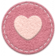 The Good Life: September 2019 Mini Kit - felt circle heart