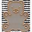 Templates Grab Bag Kit #23: wood teddy bear template