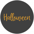 October 31 Words & Labels Kit: label oct 31 circle halloween