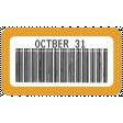 October 31 Words & Labels Kit: label october 31b