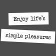 The Good Life - November 2019 Words & Tags - Word Strip Enjoy Life's Simple Pleasures