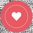 Deck The Halls Words & Labels - Label Heart