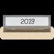 Clear Calendar Tabs Kit - clear tab 2019