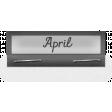Clear Calendar Tabs Kit - clear tab april